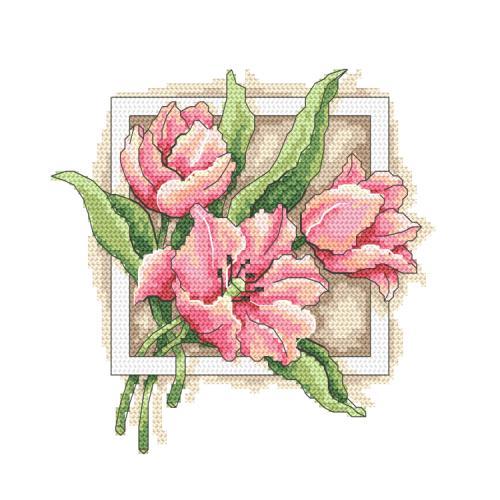 GC 10312 Cross stitch pattern - Graceful tulips