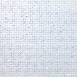 964-54-4254-11 Metallic AIDA 54/10cm (14 ct) white-opal - sheet 42 x 54 cm