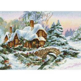 LS BU5001 Cross stitch kit - Winter landscape