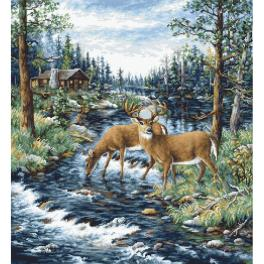 LS B606 Cross stitch kit - Peaceful morning