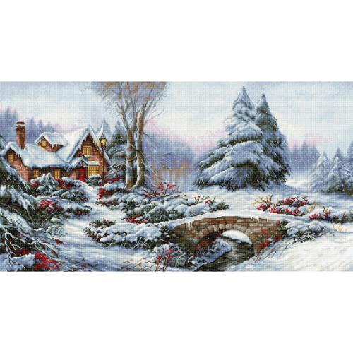 LS BU5002 Cross stitch kit - Winter landscape