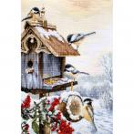 LS BU4021 Cross stitch kit - Bird house