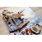 LS BU4021 Cross stitch kit - Bird house