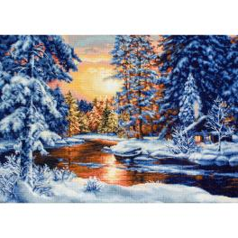 LS B477 Cross stitch kit - Winter landscape