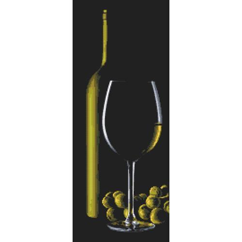 GC 10318 Cross stitch pattern - Glass with white wine