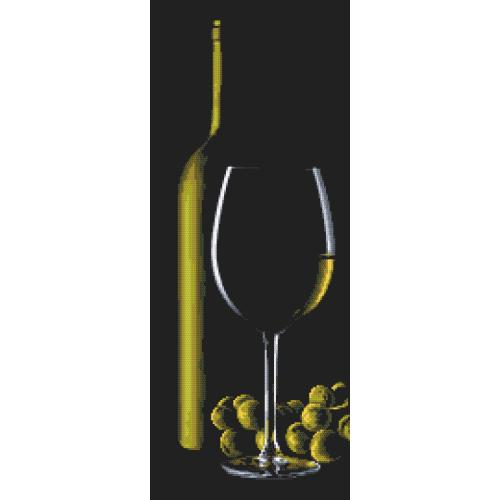 Z 10318 Cross stitch kit - Glass with white wine