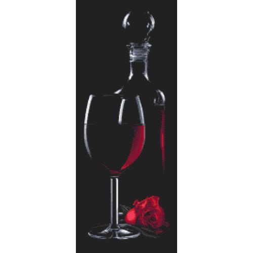 GC 10317 Cross stitch pattern - Glass with red wine