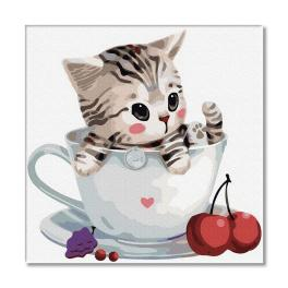 PC3030004 Painting by numbers - Kitten in a cup