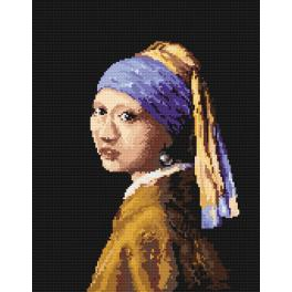 K 4514 Tapestry canvas - Woman with a pearl - J.V. van Delft