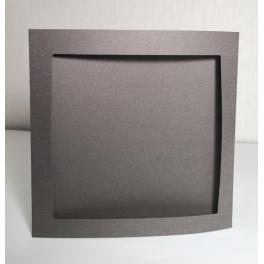 900-14 Big card with a square passe-partout graphite