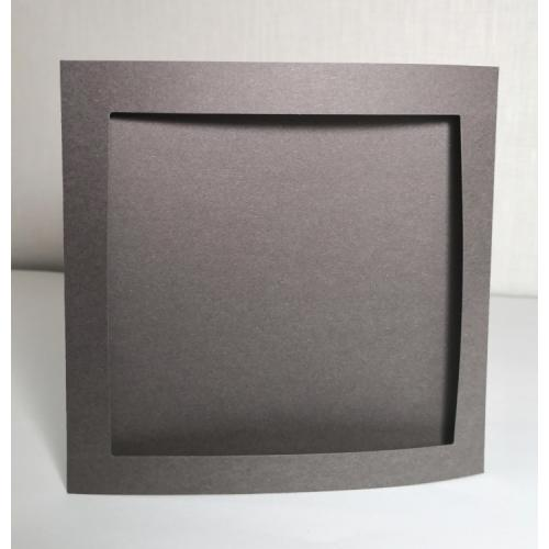 900-14 Big card with a square passe-partout graphite
