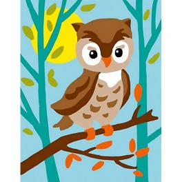 CA 3323K Gobelin kit - Owl in the forest