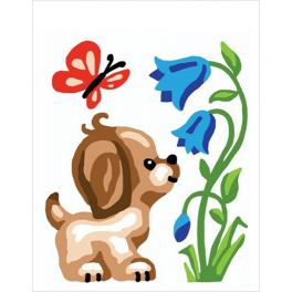 CA 3329K Gobelin kit - Doggy with a butterfly