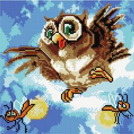 PD3030006 Diamond painting kit - Cheerful owl