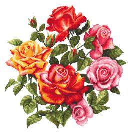 ZN 10674 Cross stitch kit with tapestry - Roses II