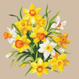 ZN 10672 Cross stitch kit with tapestry - Narcissus II