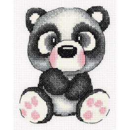PA 8-372 Cross stitch kit - Gigi the panda