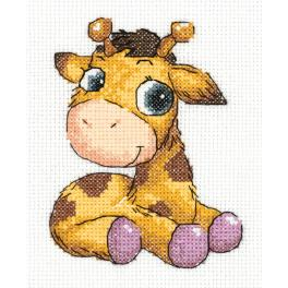 PA 8-362 Cross stitch kit - Jojo the giraffe