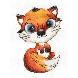 PA 8-328 Cross stitch kit - Abby the fox