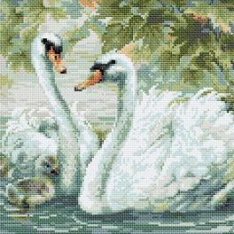 RIO AM0036 Diamond painting kit - White swans