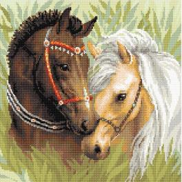 RIO AM0039 Diamond painting kit - Pair of horses