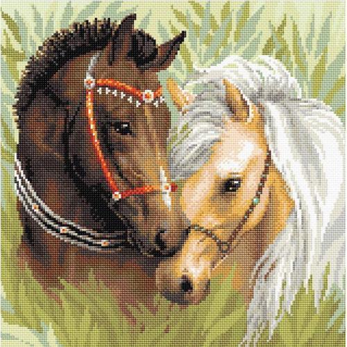 RIO AM0039 Diamond painting kit - Pair of horses