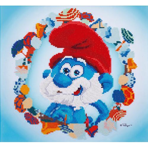 VPN-0185221 Diamond painting kit - The Smurfs - Papa