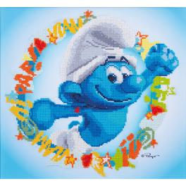 VPN-0185219 Diamond painting kit - The Smurfs - Hefty