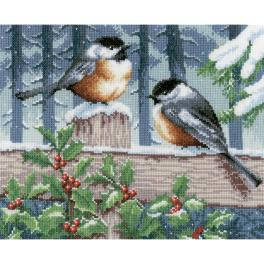 VPN-0021668 Cross stitch kit - Winter tits