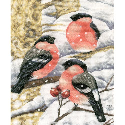 LPN-0169675 Cross stitch kit - Bullfinch