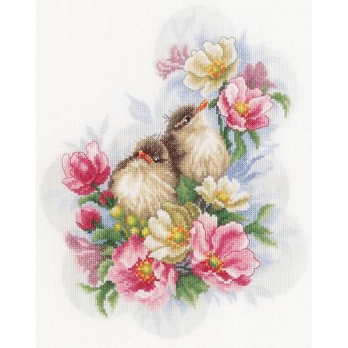 LPN-0185003 Cross stitch kit - Flower branch guardians