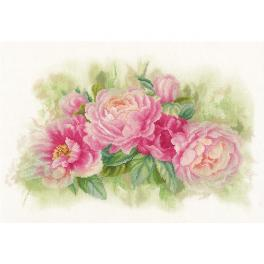 LPN-0170933 Cross stitch kit - Bouquet of peonies