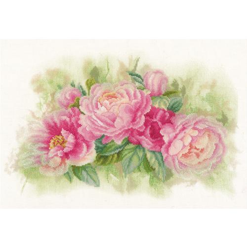 LPN-0170933 Cross stitch kit - Bouquet of peonies