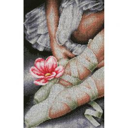 LPN-0157513 Cross stitch kit - My little ballerina shoes