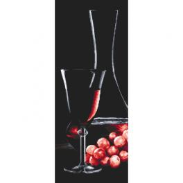 W 10319 ONLINE pattern pdf - Glass with rose wine
