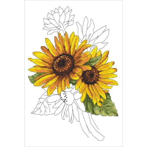 W 10322 ONLINE pattern pdf - Stately sunflower