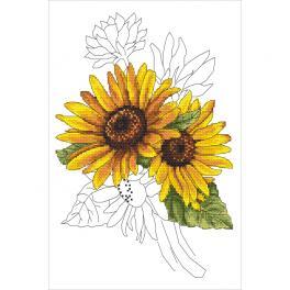 GC 10322 Cross stitch pattern - Stately sunflower