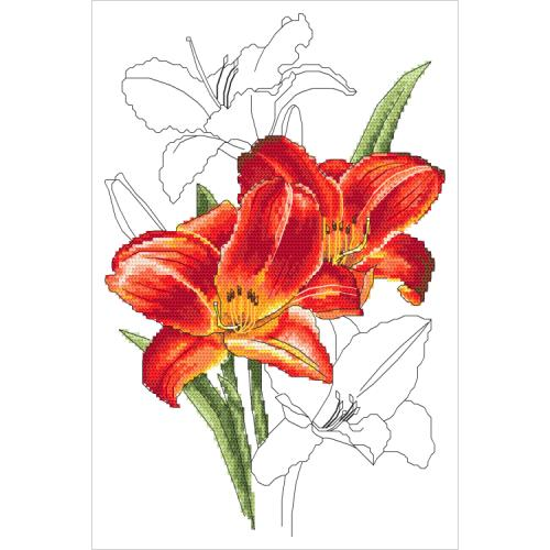 GC 10320 Cross stitch pattern - Romantic lily