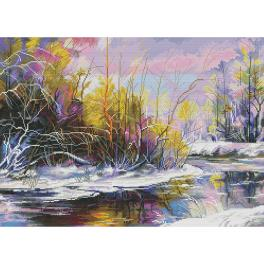 NPE 3515 Cross stitch kit - Spring watercolours