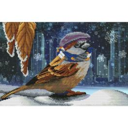 NCP 4232 Cross stitch kit with printed background - Insulated! I'm waiting