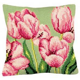 CA 5070 Cross stitch tapestry kit - Cushion - Sweet pinks