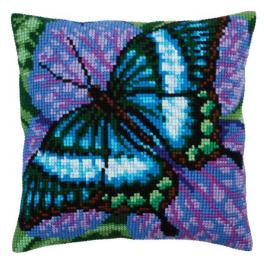 CA 5312 Cross stitch tapestry kit - Cushion - Volatic turquoise