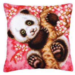 CA 5242 Cross stitch tapestry kit - Cushion - Hooray! It`s spring!