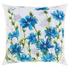 ZTCU 059 Cross stitch kit - Cushion - Chicory blossoms