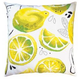 ZTCU 054 Cross stitch kit - Cushion - Yellow lemons