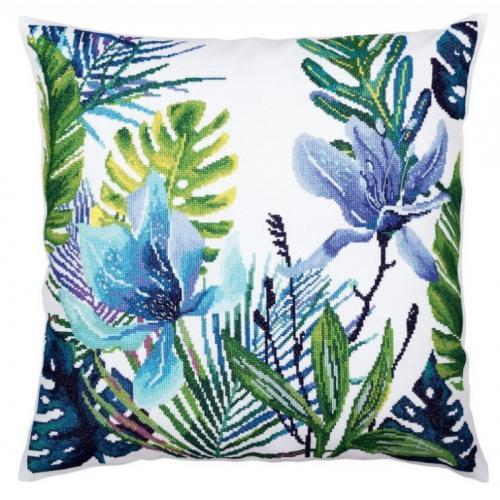 ZTCU 057 Cross stitch kit - Cushion - Tropical leaves