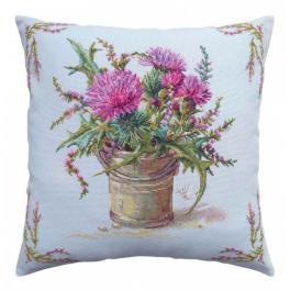 ZTCU 058 Cross stitch kit - Cushion - Thistle and heather