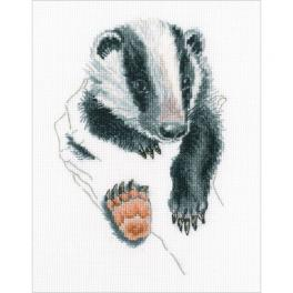 ZTM 820 Cross stitch kit - In palms - badger