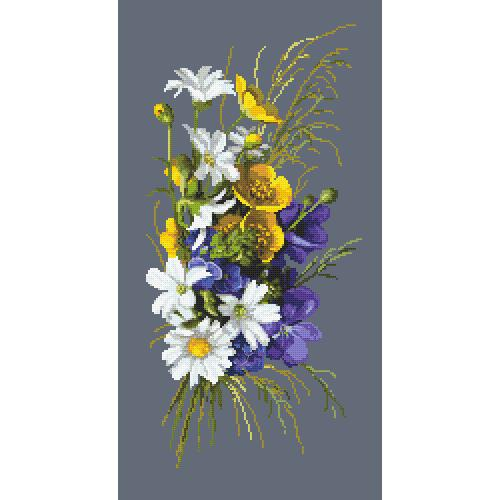 GC 10460 Cross stitch pattern - Bouquet with glaucoma