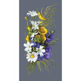 ZN 10460 Cross stitch tapestry kit - Bouquet with glaucoma